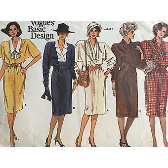 Vogue coser patrón 1607 misses señoras vestido tamaño 8-12 Sin cortar