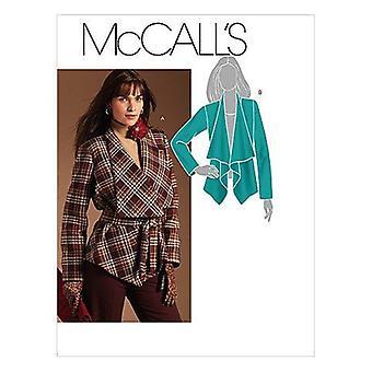 McCalls ompelu kuvio 5937 Misses Vuorattu Takki Vyö Koko 6-12 Leikkaamaton