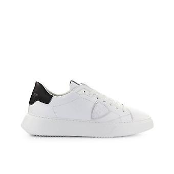 Philippe Model Temple Wit Zwart Lederen Sneaker