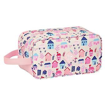 Travel Slipper Holder Glow Lab Welcome Home Pink Polyester