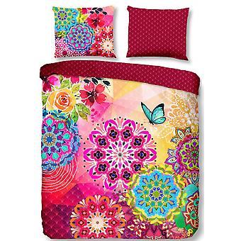 cover Of bed Ernesta 200 x 220 cm satin red/pink