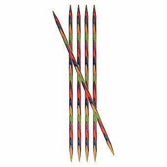 KnitPro Symfonie: Stricknadeln: Doppel-Ended: Set von fünf: 15cm x 6.50mm