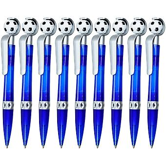 Kugelschreiber Goalie 9 steckte Mitgebsel Geschenk fr Kindergeburtstag Fuball, blau