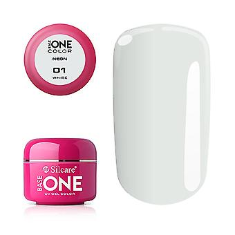 Base one - UV Gel - Neon - White - 01 - 5 gram
