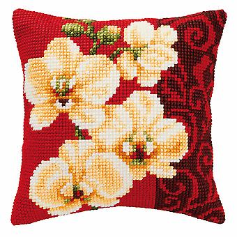 Vervaco Cross Stitch Kit: Coussin: Orchidée