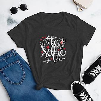 Take Selfie -  T-shirt met korte mouwen, dames