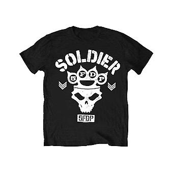 Five Finger Death Punch Kids T Shirt Soldier new Official Black Ages 5-14 yrs