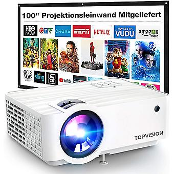 Mini Beamer, 5500 Lumen Heimkino Video Beamer mit 240 Zoll Screen, Native 720P Unterstützt 1080P