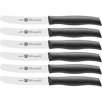 Messer-Set, 6-tlg., Frhstcksmesser, Klingenlnge: 12 cm, Rostfreier Spezialstahl/Kunststoff-Griff,