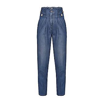 Pinko New Cara Jeans, F57_Blu-Sapphire Stella, 34 Vrouw