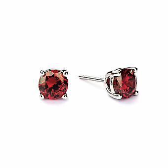 Boucles d'oreilles en grenat de janvier - Bijoux cadeaux pour femmes de Lu Bella