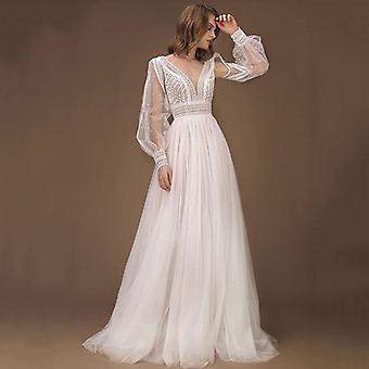 Elegant A-line Wedding Dress