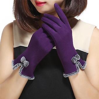Fashion Lovely Bowknot Kvinder Touch Screen Handsker