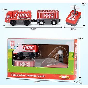 قطار التحكم عن بعد تعيين RC الكهربائية اكسبرس شاحنة النقل القطار المغناطيسي