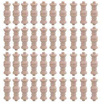 Для 40шт деревянные ремесленные шпиндели для мебельных окон и дверей H-79 Тип 6x1.8cm WS4756