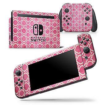Deep Pink Bubble Morrocan Pattern - Skin Wrap Decal para Nintendo
