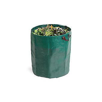 909 OUTDOOR Zielone worki na odpady ogrodowe w zestawie 2 do ogrodu & tarasu, 2x Solidne torby ogrodowe, 2x Stabilna torba na liście w 76 x Ø 67 cm, samozastawa
