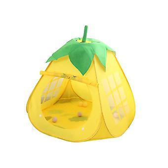 Yellow 80*80*100cm children indoor folding tent kids indoor playhouse homi2497