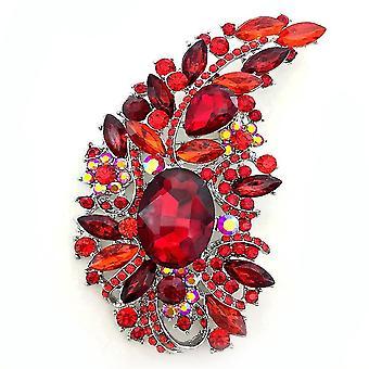 Exquisite Brosche Pin Extra große Corsage Diamant eingelegt Damen Brosche