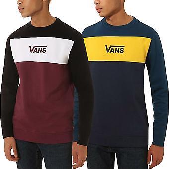 Vans Mens Retro Active Cotton Crew Neck Colourblock Sweatshirt Jumper
