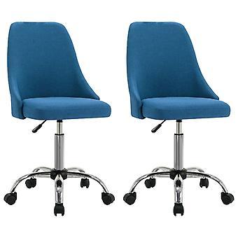 vidaXL toimistotuolit 2 kpl. sininen kangas