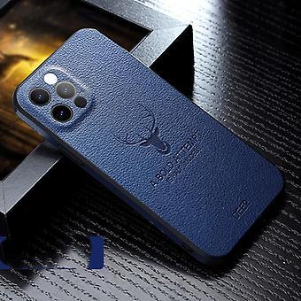 Ylellinen nahka rakenne neliön kehys kotelo päällä iphone 12 11 pro max mini iphone x xr xs peura kamera suoja iskunkestävä kansi