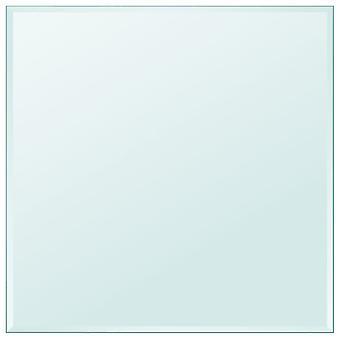 vidaXL الجدول العلوي مصنوعة من الزجاج خفف مربع 700x700 ملم