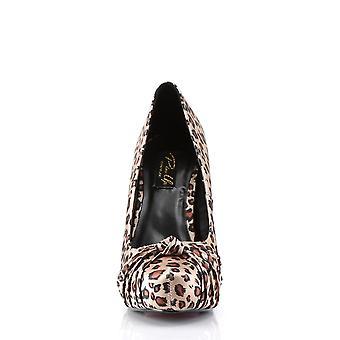 Pin mujeres's zapatos hasta tan leopardo estampado satén