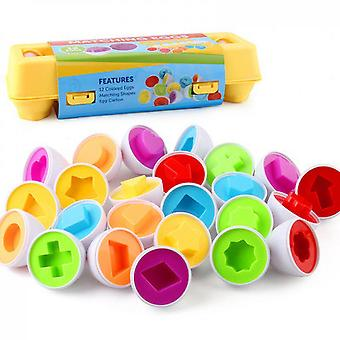 Matching Eggs Color,shape Recoginition Sorter Puzzle