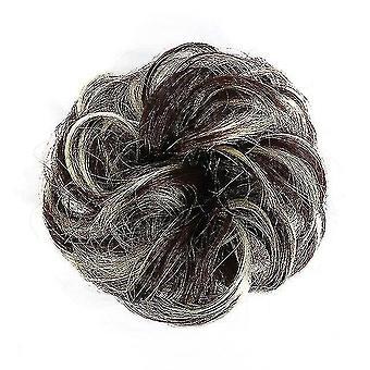 Συνθετικά ακατάστατα σγουρά scrunchies των γυναικών μαλλιά επεκτάσεων γάμου(1)