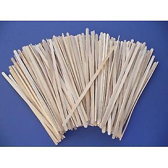 200 flaco6mm ancho súper largo 19 cm madera Lolly Sticks para artesanías