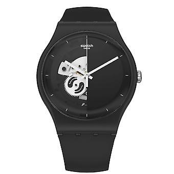 Swatch So32b107 Live Time Reloj negro de silicona