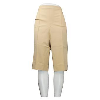 Isaac Mizrahi Live! Damen Petite Hose Pedal Pusher Pintucks Beige A377473