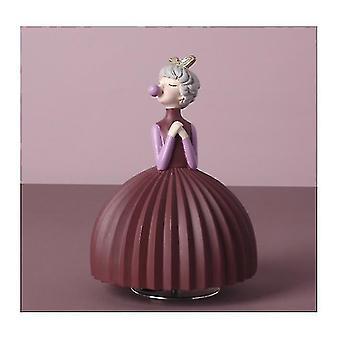 Пузырь Девушка Украшение Спальня Комната Музыкальная шкатулка Музыкальная шкатулка Симпатичная девушка-украшение (фиолетовый)