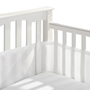 Atmungsaktives Mesh-Krippen-Innengerüst passt zu vierseitigen Lamellen und soliden Rückenbetten, sicherer für Baby, Anti-Stoßstange