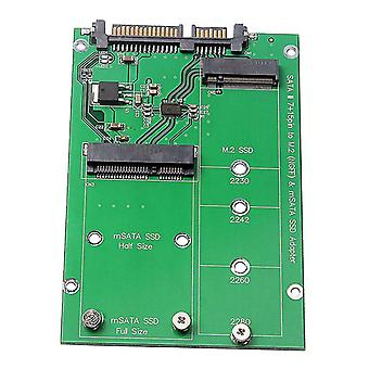 2.5 Inch M.2 Ngff Msata 2-in-1 Multiple Sized Ssd To Sata Iii Converter Card