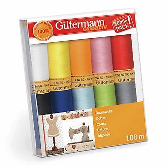 Gutermann 10 gängset: 100% Bomull Nr.50 - Col 2