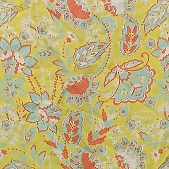 DG2 by Diane Gilman Women's Top Sleeveless Floral Button Tunic Yellow 697475