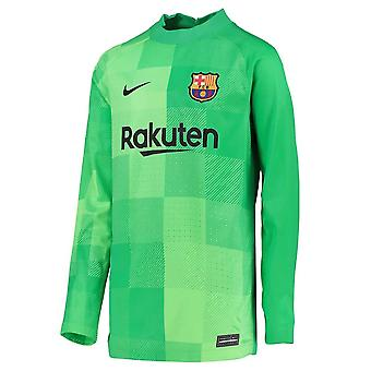 2021-2022 برشلونة هوم حارس مرمى قميص (أخضر) - أطفال
