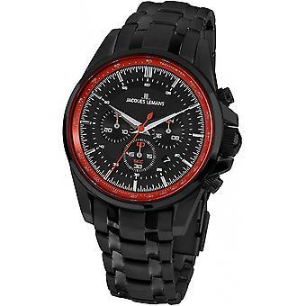 Jacques Lemans Negro Acero Inoxidable 1-1799X Reloj de Hombre