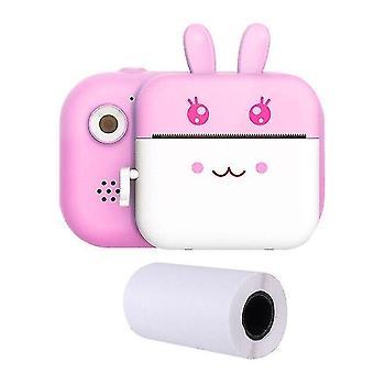 الكاميرات الرقمية كاميرا الطباعة الفورية للأطفال 1080p HD الكاميرا الوردي
