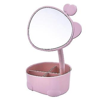 Mirrors makeup mirror cosmetic storage box protable creative beauty box detachable desktop organizer