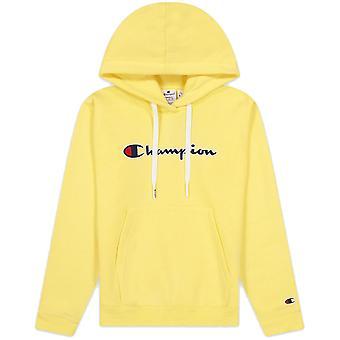 Champion Wmns Organic Cotton Blend Script Logo Hoodie 114461YS105BAN sweat-shirts pour femmes