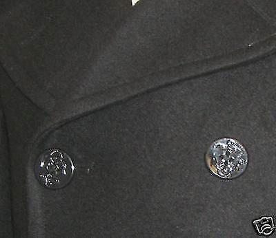 New Us Navy Style Vintage Wool Winter Pea Coat