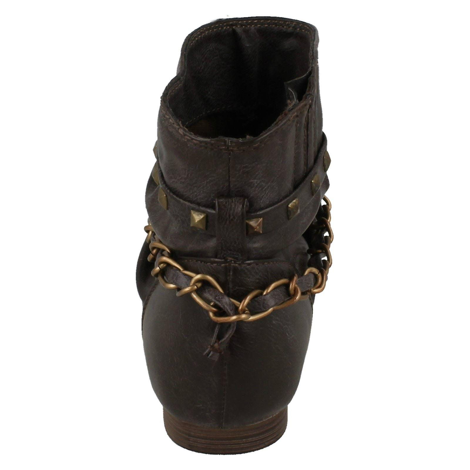 Girls Cutie Chain Strap *Ankle Boots*