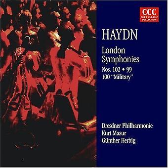 Haydn/Masur - Joseph Haydn: Symphonies de Londres nos 99, 100 & 102 importation USA [CD]