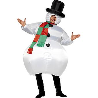 Snowman costume inflatable snowman costume