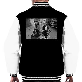 Eric B And Chuck D On The Streets Of New York 1980s Men's Varsity Jacket