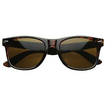 Klassisk 80s Retro store klassiske Hornet Rimmed stil solbriller Briller