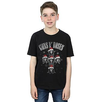 Guns N Roses Boys Christmas Cross T-Shirt